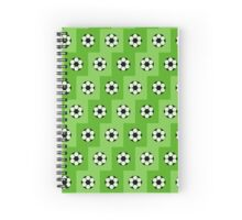 Football green pattern  Spiral Notebook
