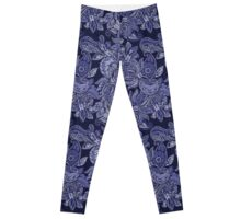 Paisley Dream - indigo Leggings