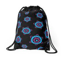 Retro Atom Symbol Pattern Drawstring Bag