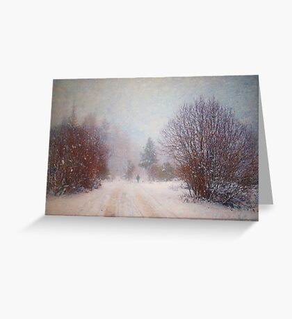 The Man in the Snowstorm Greeting Card