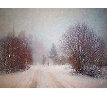 The Man in the Snowstorm Photographic Print