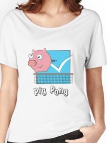 Pig Pong Women's Relaxed Fit T-Shirt
