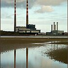 Pidgeon House chimneys, Sandymount Strand by dOlier
