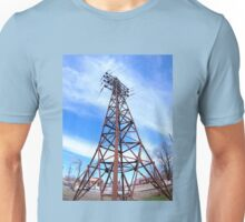 High-voltage tower with wires Unisex T-Shirt