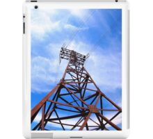 High-voltage tower on blue sky iPad Case/Skin
