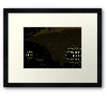 Asteroid and Orbitals Hache Sector Framed Print