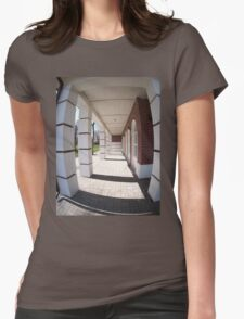The facade of the city building Womens Fitted T-Shirt