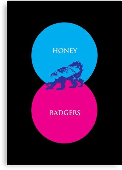 Honey Badger Venn Diagram by jezkemp