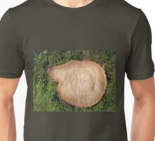 Fresh cut tree stump Unisex T-Shirt