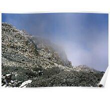 Ben Lomond Cliffs in Winter Poster