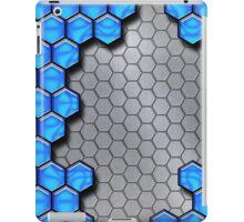 Blue Metallic Scale iPad Case/Skin