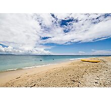 Kayak at South Sea Island, Fiji Photographic Print