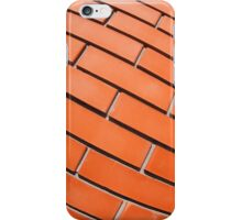 New red brick wall with distortion lens iPhone Case/Skin
