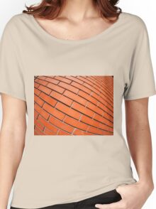 New red brick wall with distortion lens Women's Relaxed Fit T-Shirt