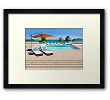 Indulgence postcard from the Seychelles Framed Print