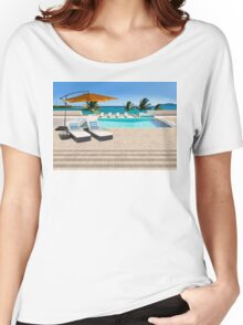 Indulgence postcard from the Seychelles Women's Relaxed Fit T-Shirt