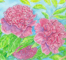 Spring Renewal- Begonias in Pink and Violet by wademcmillan