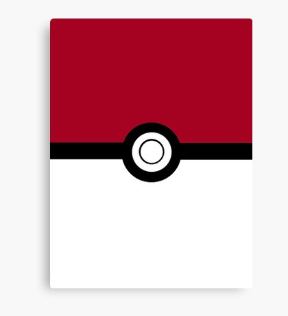 Pokeball 2D Design Canvas Print