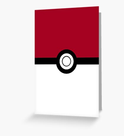 Pokeball 2D Design Greeting Card