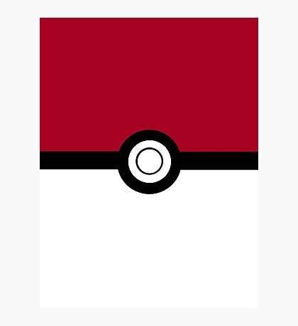 Pokeball 2D Design Photographic Print