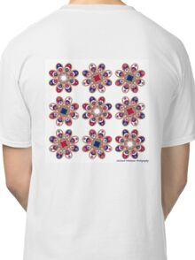 Red, White and Blue Foot Flowers Classic T-Shirt