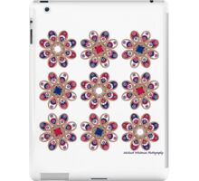 Red, White and Blue Foot Flowers iPad Case/Skin