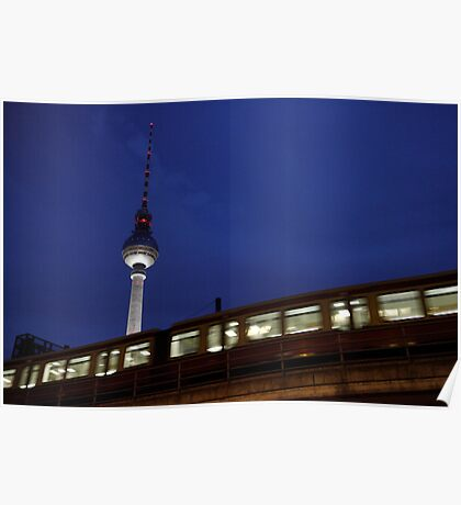 Fernmeldeturm Berlin Poster