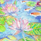 Koi and Water Lillies by wademcmillan
