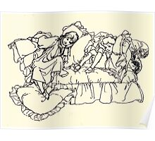 The Zankiwank & the Bletherwitch by Shafto Justin Adair Fitz Gerald art Arthur Rackham 1896 0125 Maude and Willie Poster