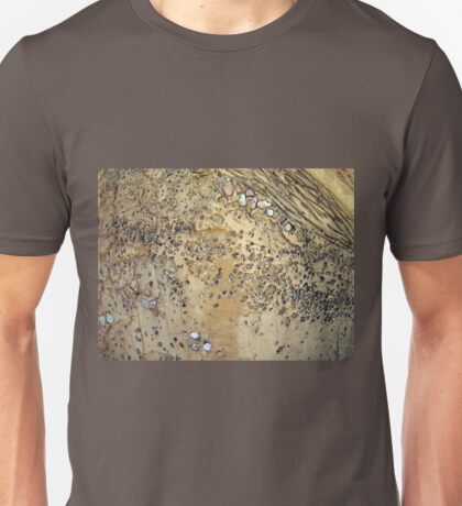 Wall of cement interspersed with stones Unisex T-Shirt