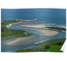Where Narragansett Beach Ends Narrow River Begins Poster