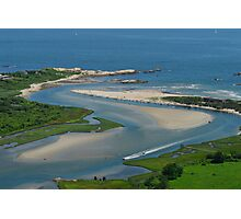 Where Narragansett Beach Ends Narrow River Begins Photographic Print