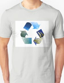 Conceptual recycling sign with images of nature T-Shirt