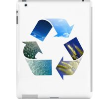 Conceptual recycling sign with images of nature iPad Case/Skin