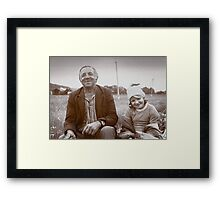 A Man and His Daughter, Ukraine II Framed Print