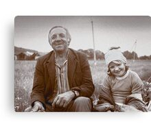 A Man and His Daughter, Ukraine II Canvas Print