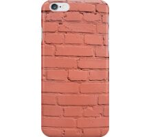 A fragment of a brick wall painted iPhone Case/Skin
