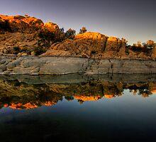 Watson Lake Glow by Bob Larson