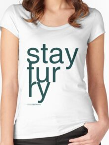 Stay Furry Women's Fitted Scoop T-Shirt