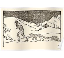 The Trail Book by Mary Hunter Austin art Milo Winter 1918 0070 Trail to Buffalo Country Poster