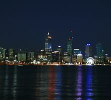 Night Lights - Perth Western Australia by Leanne Allen