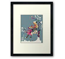 Lady In A Tree - Digital Art Print Framed Print