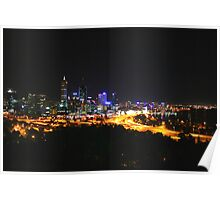 City Lights - Perth, Western Australia Poster