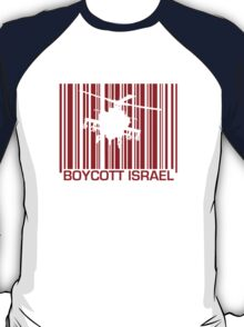 Boycott Israel_punch_out_red (heli version) T-Shirt