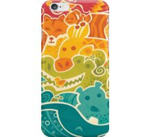 Animal Rainbow - cream iPhone Case/Skin