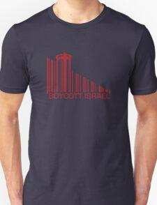 Boycott Israel (wall version) RED Unisex T-Shirt