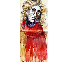 Red Scarf Photographic Print