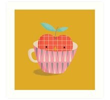apple in a cup Art Print