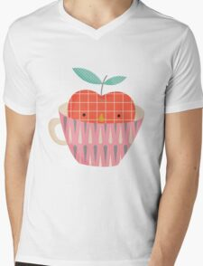 apple in a cup Mens V-Neck T-Shirt