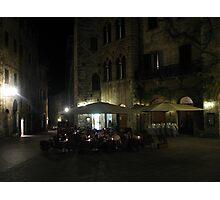 Al Fresco - San Gimignano Photographic Print
